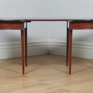 Antique English Georgian Regency Figured Mahogany D End Dining Table (Circa 1810) - yolagray.com
