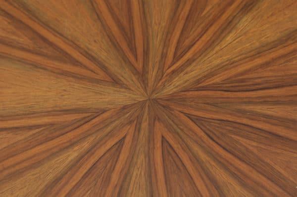 Art Deco French Figured Walnut Circular Centre Coffee Occasional Side Table (Circa 1930) - yolagray.com