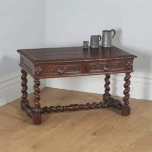 Antique French Carved Green Man Oak Rectangular Coffee / Centre / Occasional / Magazine Table (Circa 1860) - yolagray.com