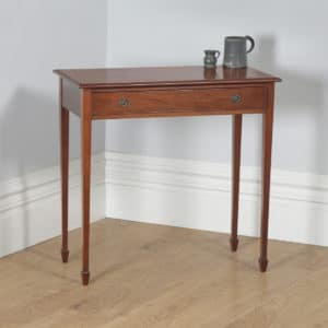 Antique English Regency Style Mahogany Occasional Hall Side Table (Circa 1910) - yolagray.com
