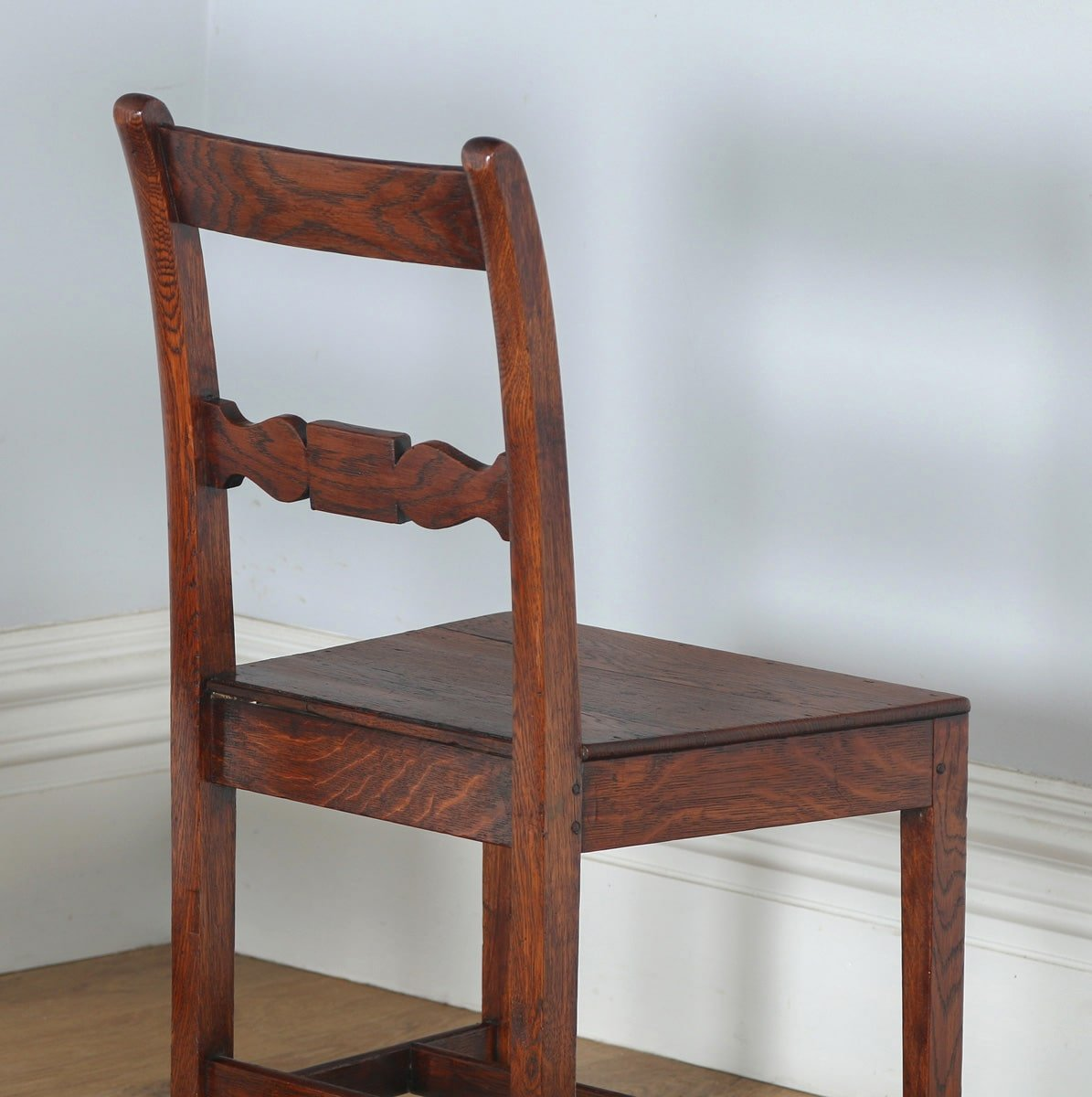 Antique Set of Six Regency Cottage Oak & Elm Kitchen Dining Chairs ...