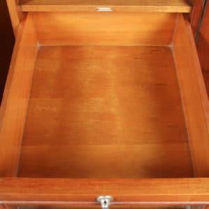Antique English Art Deco Burr Maple, Satinwood & Walnut Two Door Compactum Wardrobe (Circa 1930) - yolagray.com
