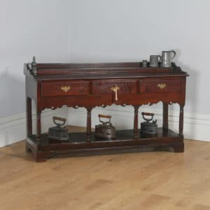 Antique Welsh Georgian Oak Potboard Low Dresser Base Sideboard (Circa 1800)- yolagray.com