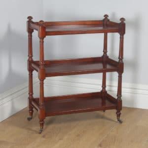 Antique English Victorian Mahogany Dumbwaiter / Buffet Server / Sideboard (Circa 1840)- yolagray.com