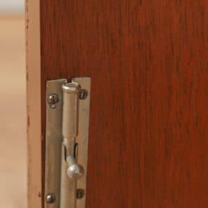 Antique English Art Deco Coromandel & Walnut Two Door Tallboy Compactum Chest of Drawers (Circa 1930) - yolagray.com