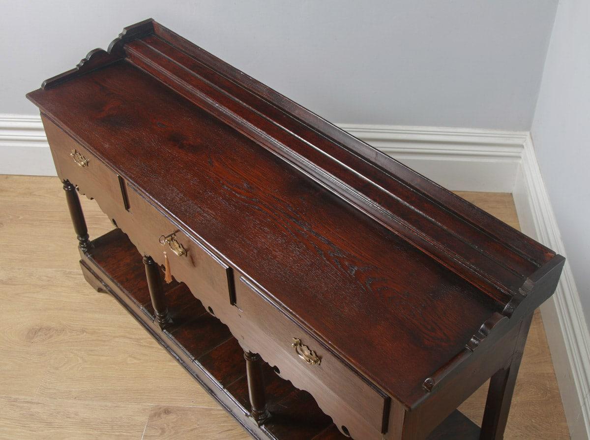 Georgian Dresser Base Oak Welsh With