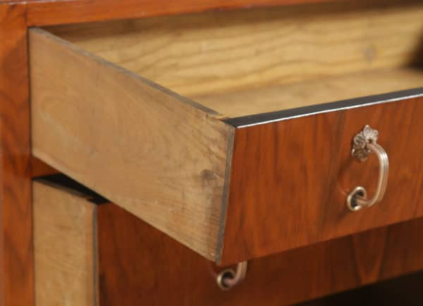 Antique English Art Deco Figured Walnut Tallboy Chest of Drawers (Circa 1930)- yolagray.com