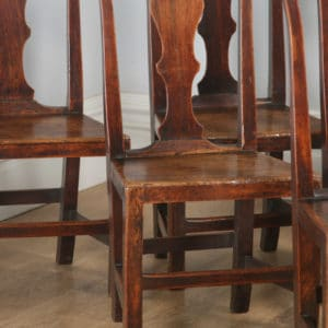 Antique Set of Six Georgian Chippendale Elm Country Cottage Kitchen Dining Chairs (Circa 1780) - yolagray.com