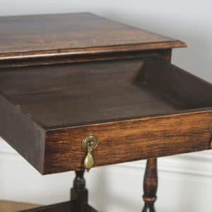 Antique English Georgian Style Oak Country Side Table (Circa 1880)- yolagray.com