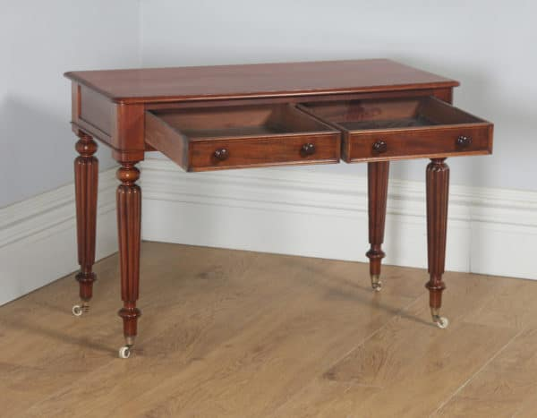 Antique English Victorian Mahogany Occasional Console Side Writing Table (Circa 1840) - yolagray.com