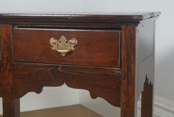 Antique English Georgian Oak 5ft Pot Board Low Dresser Base Sideboard (Circa 1780) - yolagray.com