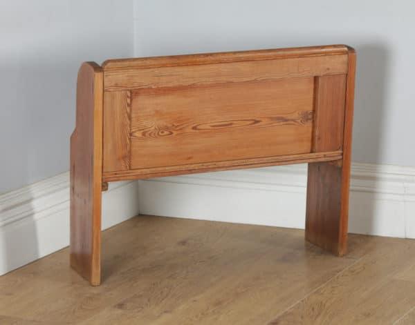 Antique English Victorian 3ft 3″ Pitch Pine Church Kitchen Hall Bench Pew (Circa 1870) - yolagray.com