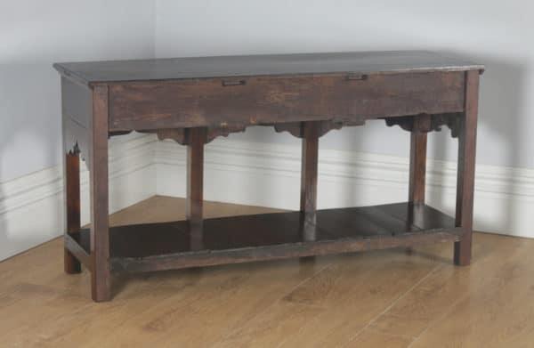 Antique English Georgian Oak 5ft Pot Board Low Dresser Base Sideboard (Circa 1780) - yolagray.com