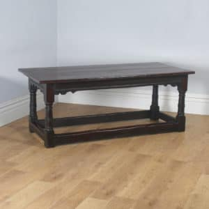 "Antique English Charles II 6ft 3"" Solid Oak Farmhouse Kitchen Refectory Dining Table (Circa 1660) - yolagray.com"