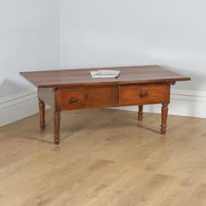 Antique French Cherry Wood Provincial Rectangular Centre Coffee Side Table (Circa 1860) - yolagray.com