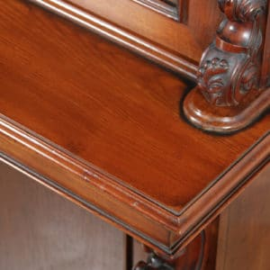 Antique Anglo Indian Victorian Colonial Campaign Mahogany Two Door Glazed Library Office Bookcase Cupboard (Circa 1870) - yolagray.com