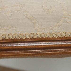 Antique French Louis XVI Style Walnut Upholstered Duet Music Piano Window Stool Ottoman Seat (Circa 1880) - yolagray.com