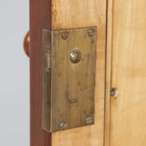 Antique English Victorian Burr Walnut & Satinwood Two Door Wardrobe Cupboard Linen Press (Circa 1880) - yolagray.com