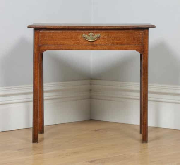 Antique English 18th Century Georgian Oak Occasional Side Hall Writing Table (Circa 1780) - yolagray.com