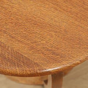 Art Deco English Oak Circular Centre Coffee Occasional Side Table (Circa 1930) - yolagray.com