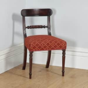 Antique English Georgian Regency Mahogany Bar Back Dining Side Office Desk Chair (Circa 1830) - yolagray.com