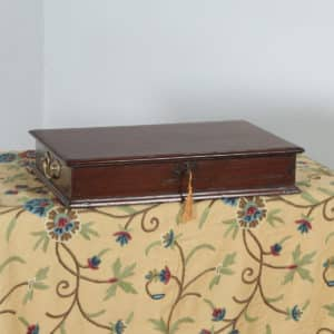 Antique Victorian Colonial Campaign Teak & Brass Writing / Jewellery / Sewing Box (Circa 1860) - yolagray.com