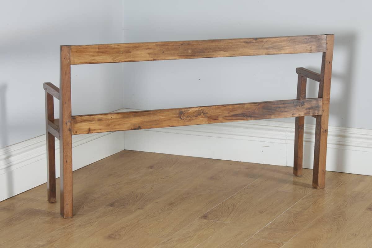 "Deco De Table Bretonne antique french 5ft 3"" breton chestnut hall settle bench"