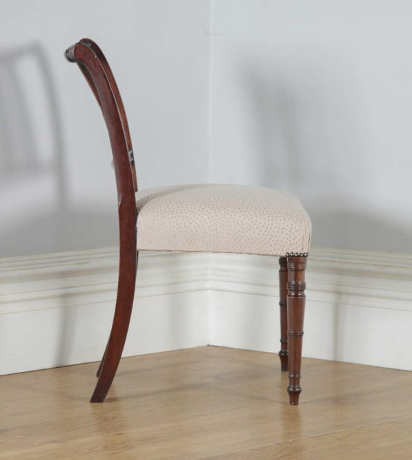 Antique English Georgian Regency Mahogany Dining Side Office Desk Chair (Circa 1820) - yolagray.com
