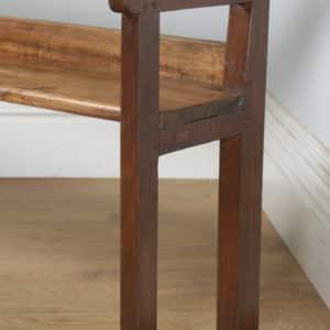 "Antique French 5ft 3"" Breton Chestnut Hall Settle Bench (Circa 1870) - yolagray.com"