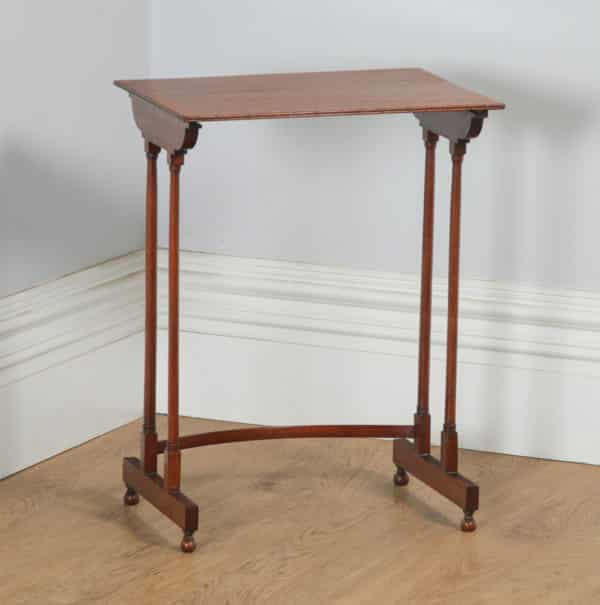 Antique English Regency Style Edwardian Set of Four 4 Quartetto Mahogany Nest of Tables (Circa 1910) - yolagray.com