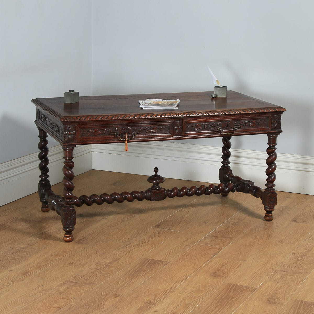 Sensational Antique French Provincial Carved Green Man Oak Library Desk Writing Table Circa 1870 Download Free Architecture Designs Scobabritishbridgeorg