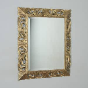 Antique English Victorian Oak Carved Overmantle Gilt Gesso Wood Wall Hanging Mirror (Circa 1890) - yolagray.com