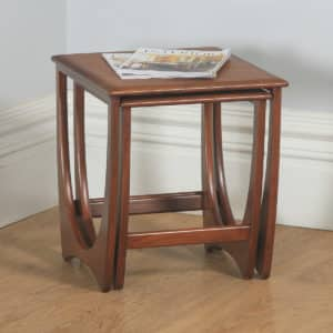 English Vintage Nest of Two / Pair G Plan Fresco Astro Teak Tables by Victor Wilkins (Circa 1960) - yolagray.com