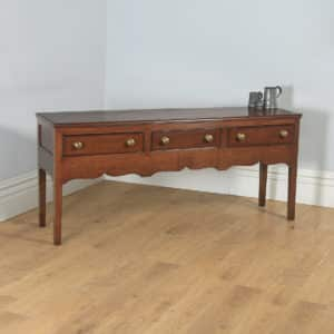 Antique English 19th Century Georgian Oak Shropshire Joined Low Dresser Base Sideboard (Circa 1800) - yolagray.com