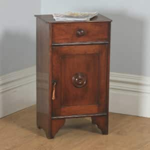 Antique French 3rd Republic Walnut Bedside Chest Pot Cupboard Night Stand Cabinet (Circa 1890) - yolagray.com