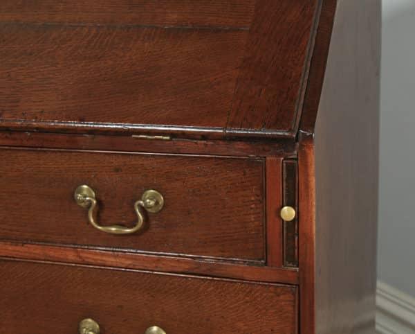 Antique English 18th Century Georgian Oak Bureau Writing Desk (Circa 1780) - yolagray.com
