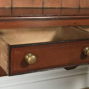 Antique English 19th Century Georgian Oak Shropshire Joined Low Dresser Base & Rack Sideboard (Circa 1800) - yolagray.com
