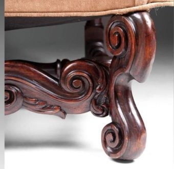 Yola Gray Antiques, Scroll foot Antique Style