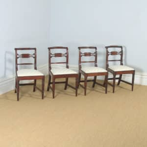Antique English Set of Four Regency Georgian Mahogany Dining / Side Chairs (Circa 1820) - yolagray.com