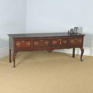 Antique English 18th Century Georgian Oak Four Drawer Dresser Base Sideboard (Circa 1780) - yolagray.com