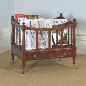 Antique English Georgian Regency Mahogany Canterbury Magazine Rack Tidy (Circa 1830) - yolagray.com