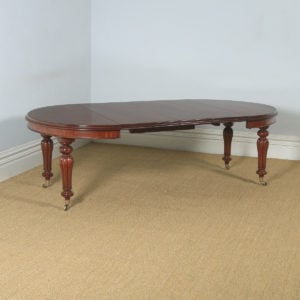 "Antique English Victorian Mahogany Extending Eight Seat Dining Table / 7ft 8"" Long (Circa 1850) - yolagray.com"