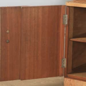 Antique English Art Deco Burr Walnut Six Piece Bedroom Suite by M. P. Davis Furniture of London (Circa 1930) - yolagray.com