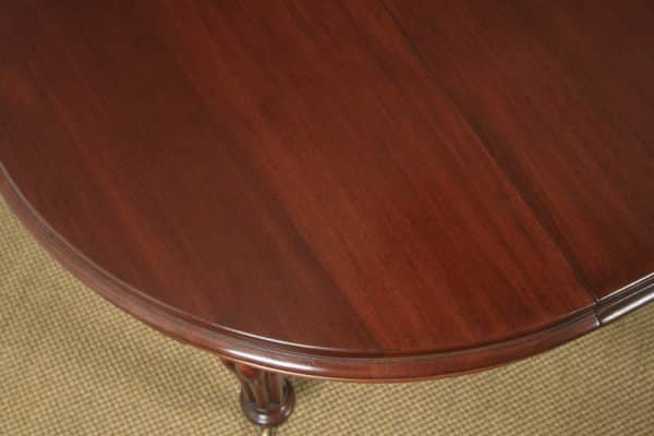 """Antique English Victorian Mahogany Extending Eight Seat Dining Table / 7ft 8"""" Long (Circa 1850) - yolagray.com"""