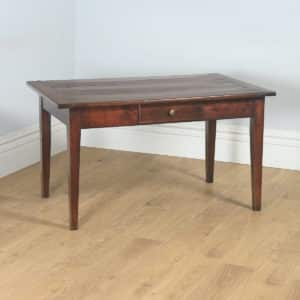 "Antique French Cherry Wood Six Seat 4ft 5"" Refectory Kitchen Farmhouse Table (Circa 1850) - yolagray.com"