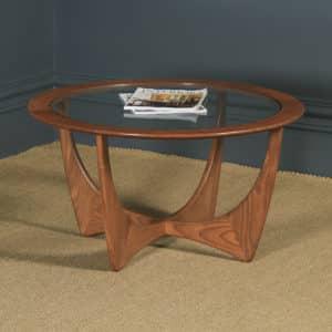 Vintage Teak & Glass Victor Wilkins G Plan Astro Circular Round Coffee Table (Circa 1965) - yolagray.com