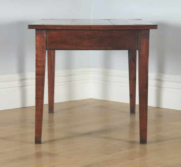 """Antique French Cherry Wood Six Seat 4ft 5"""" Refectory Kitchen Farmhouse Table (Circa 1850) - yolagray.com"""