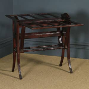 Antique English Victorian Mahogany Architect's Folio / Plan / Chart Folding Table Stand (Circa 1890) - yolagray.com