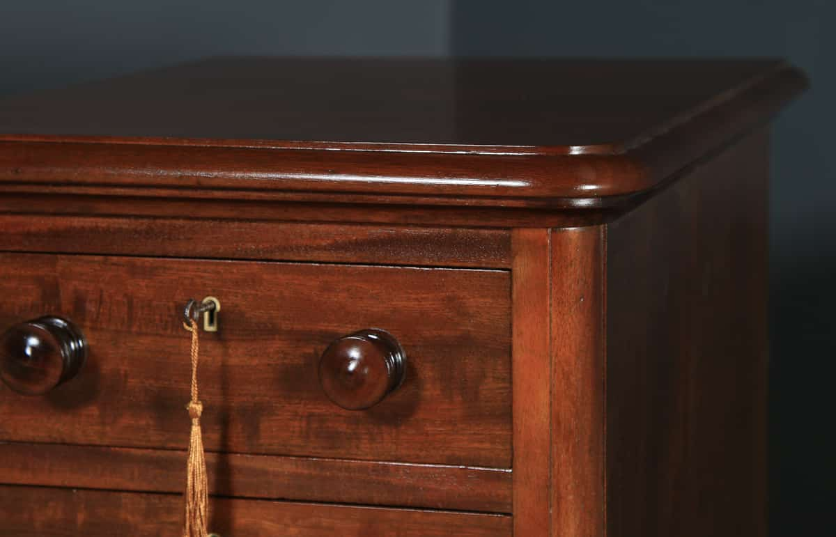 Victorian Bedside Tables English Solid Mahogany Yola Gray Antiques
