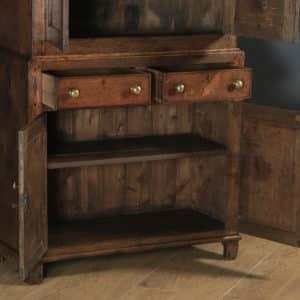 Antique Welsh Georgian Oak Cwpwrdd Bara Caws Or Bread Cheese Food Inlaid Kitchen Housekeepers Cupboard (Circa 1810) - yolagray.com